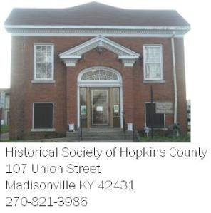 Historical Society of    Hopkins County